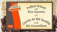 Audrey's Squares Half Puffed Wheat/Half Crispy Rice 12/90g Sugg Ret $2.59***Promo Retail 2 For $3.49***