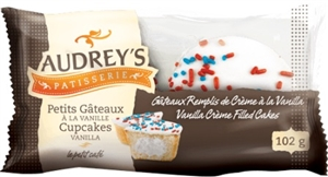 Audrey's Cupcakes Vanilla 2-Pack 6/102g Sugg Ret $2.59