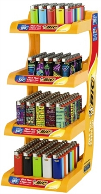 Bic Lighters Display 200 ct Sugg Ret $1.79 ***Playboy Limited Edition***