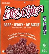 Big Chief 80g Jalapeno Beef Jerky 12/80g Sugg Ret $6.49***ON SALE 2 For $11.00**