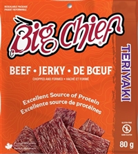 Big Chief 80g Teriyaki Beef Jerky 12/80g Sugg Ret $6.49​***PROMO RETAIL 2 For $10.00***
