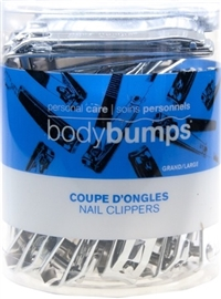 Body Bumps Nail Clipper & File 30 Unit Tub Display 30/ Sugg Ret $2.49