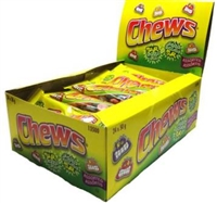 Chews Sour Bubble Gum 24/50g Sugg Ret $1.59