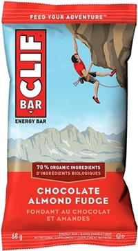 Clif Chocolate Almond Fudge Bar 12/68g Sugg Ret $2.39
