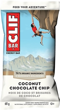 Clif Coconut Chocolate Chip Bar 12/68g Sugg Ret $2.39