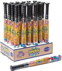 Dubble Bubble Home Run Baseball Bat Filled with Gumballs 24/187g  Sugg Ret $8.49