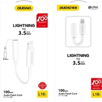 Dudao L16i Headphone Jack Adapter iPhone Lighting to 3.5mm Aux Dongle 6/ Sugg Ret $9.99
