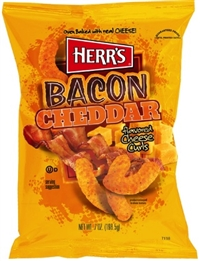 Herr's Baked Bacon Cheddar Cheese Curls  9/198g Sugg Ret $5.49