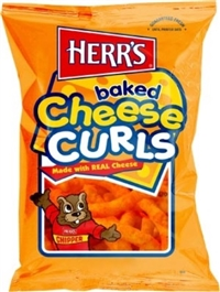 Herr's Baked Cheesy Curls 12/198g Sugg Ret $5.49