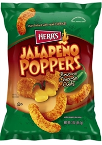 Herr's Baked Jalapeno Poppers Cheese Curls 12/198g Sugg Ret $5.49