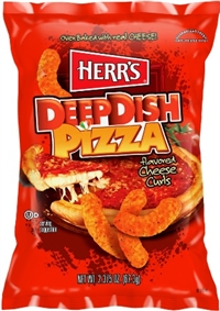 Herr's Baked Deep Dish Pizza Cheese Curls 12/198g Sugg Ret $5.49