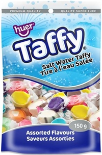 Huer Salt Water Taffy Hanging Bag 12/150g Sugg Ret $4.59