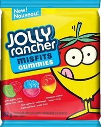 Jolly Rancher Peg Top Misfits Original Gummies 10/182g Sugg Ret $3.89