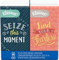 Kleenex To Go Packs Facial Tissues- 8 Packs Sugg Ret $0.99