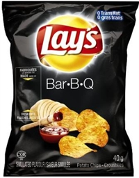 Lay's 40g BBQ Potato Chip 40's Sugg Ret $1.50