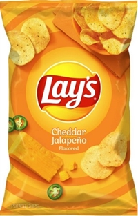 Lay's 40g Cheddar Jalapeno Potato Chip 40's Sugg Ret $1.50