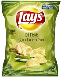 Lay's 40g Dill Pickle Potato Chip 40's Sugg Ret $1.50