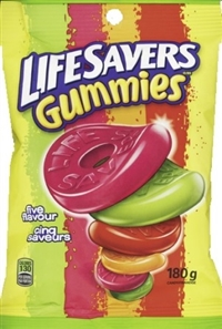 LifeSavers Original 5 Flavor Gummy 12/180g Sugg Ret $3.79