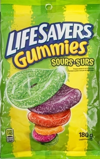 LifeSavers Sour Gummies 12/180g Sugg Ret $3.79