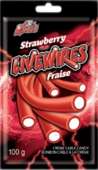 Livewires Strawberry Cream Cables 18/100g Sugg Ret $2.19