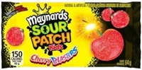 Maynards Sour Patch Cherry Blasters 18/64g Sugg Ret $1.59