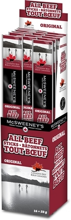 McSweeney's 50g All Beef Original Stick 16/50g Sugg Ret $3.19***PROMO RETAIL 2 for $5.00***