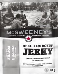 McSweeney's 80g Peppered Beef Jerky 10/ Sugg Ret $7.89