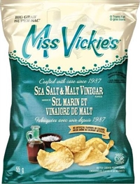 Miss Vickies 55g Sea Salt & Malt Vinegar Kettle Chip 36's Sugg Ret $2.00