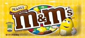 M&M's Peanuts Milk Chocolate Candies 24/49g Sugg Ret $1.89