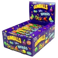 Nerds Candy Filled Gumballs-5 Balls to a Tube 24/ Sugg Ret $1.59