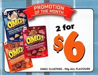 OMG 98g 1 each Point of Sale Cards***PROMO RETAIL 2 For $6.00***