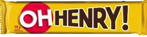 Oh Henry Chocolate Bar 24/58g Sugg Ret $1.89