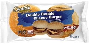 Quality Double Double Cheeseburger 1/326g Sugg Ret $9.99