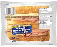 Quality Super Ham and Swiss Cheese Sub 1/275g Sugg Ret $8.09