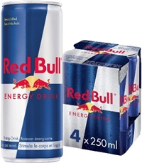 Red Bull 250 ml 4 Pack 6/4/250ml Sugg Ret $3.29 ea or $12.99/4 pack
