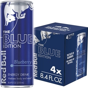 Red Bull 250 ml 4 Pack Blue Blueberry 6/4/250ml Sugg Ret $3.29