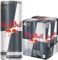 Red Bull 250 ml 4 Pack Zero 4/6/250ml Sugg Ret $3.29