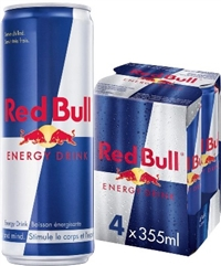 Red Bull 355 ml 4 Pack 6/4/355ml Sugg Ret $4.59 ea or $18.69/4 pack