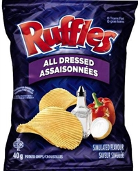 Ruffles 40g All Dressed Potato Chip 48's Sugg Ret $1.50