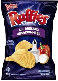 Ruffles 60g All Dressed Potato Chip 36's Sugg Ret $1.50
