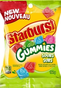 Starburst Peg Sour Gummies Original 12/164g Sugg Ret $4.39
