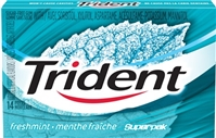 Trident Freshmint SuperPak 14 pack Sugg Ret $2.29