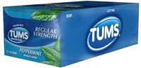 Tums Peppermint Hearburn Relief Roll 18/500mg Sugg Ret $1.19