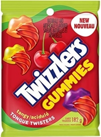 Twizzlers Gummies Tangy Tongue Twisters 10/182g Sugg Ret $3.89