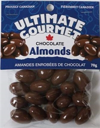 Ultimate Gourmet Chocolate Covered Almonds on a Pin Wheel 50/70g Sugg Ret $2.89