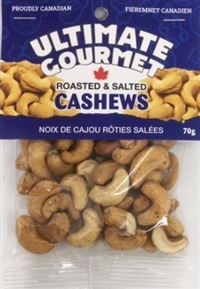 Ultimate Gourmet Header Bag Cashews Salted 12/70g Sugg Ret $4.99