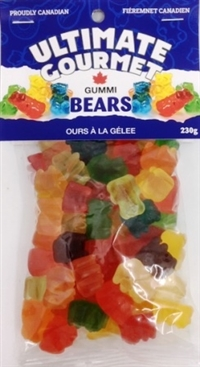 Ultimate Gourmet Header Bag Gummy Bears 12/230g Sugg Ret $3.99