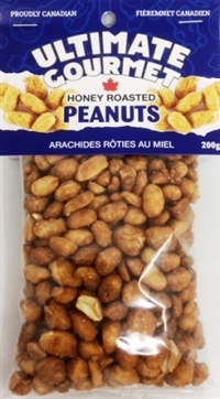 Ultimate Gourmet Header Bag Honey Roasted Peanuts 12/200g Sugg Ret $3.99