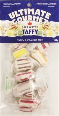 Ultimate Gourmet Header Bag Salt Water Taffy 12/140g Sugg Ret $3.99***ON SALE 2 For $6.00***