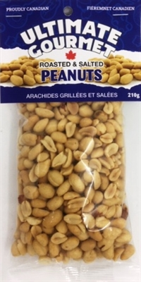 Ultimate Gourmet Header Bag Salted Peanuts 12/210g Sugg Ret $3.99